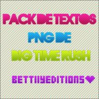 Pack de Textos PNG de BTR by BettiiyRusher
