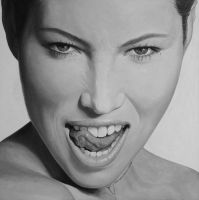 Jessica Biel - oil portrait by borda