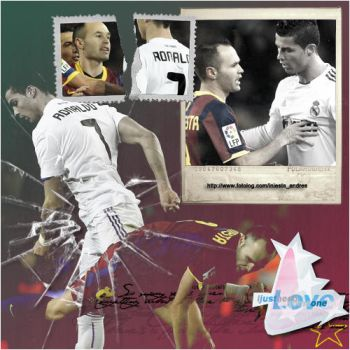 Andres Iniesta y Cristiano by onlmileyrcyrus