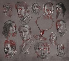 Hannibal Doodle Massacre by sahinduezguen