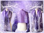 Purple Sky White Tree scarf by MinkuLul