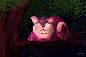 cheshire cat by Wolfguardian