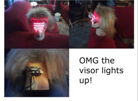 Finished wig head (it lights up!) by GZLTriforce128