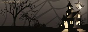 Haunted House Halloween Facebook Cover by CrystalKittyCat