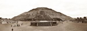 Teotihuacan - Sepia pano by LLukeBE