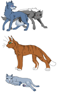 wolf and cat adopts by BadKittyTigerstar