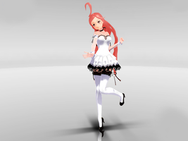 NEWCOMER MMD Miki SF Crasy white Ver. DOWNLOAD. by Queen00