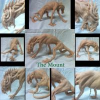 The Mount by shadowwolfsculptures