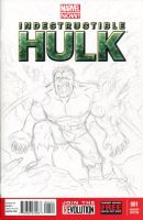 Hulk Sketch Cover Pencils by ibroussardart