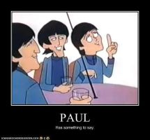 Paul Has Something To Say by TheOriginalBeatleBug