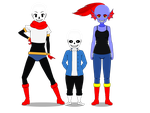 Sans, Papyrus and Undyne in Kisekae by WraithHtes