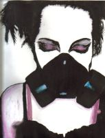 gothic gas mask by drawingdream