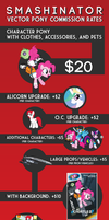 Vector Pony Commission Rates by Smashinator