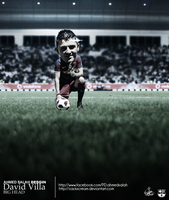 David Villa by ZackScream