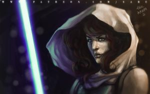 45 mins sketches - Mara Jade Skywalker by SabuDN