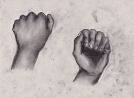 Charcoal Hands by ArtEatsYou