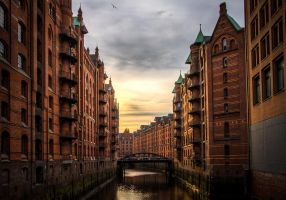 Hamburg Speicherstadt by Meduana, Germany. by Meduana