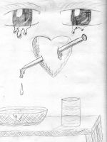 Crying Over A Broken Heart by crazzehtimmeh