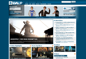 LvLUp Website by TheZeis