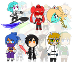 Assorted Chibis - AU Evil Minions by Dragon-FangX
