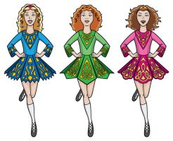 Irish Dancers by JohnRaptor