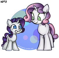 filly rarity and mare sweetie bell! by KimGoma