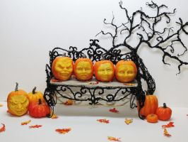 Miniature Carved Pumpkins by Ethereal-Beings