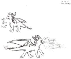 Old Spyro Sketches by Sunbeargirl