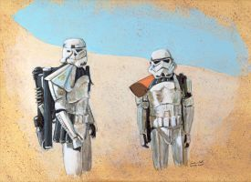 Stormtroopers on Tattooine by antonvandort