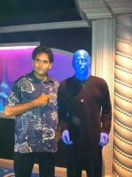 With the Blue Man by Snake-n-DA-boX
