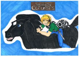 Pewdiepie and Abro Shadow of the Colossus fanart by SenSenChan