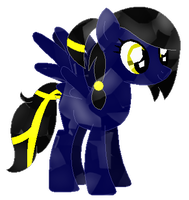 Shadow Thunder as a Crystal pony (Request) by LR-Studios