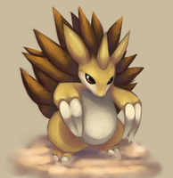One layer Sandslash by Joltik92