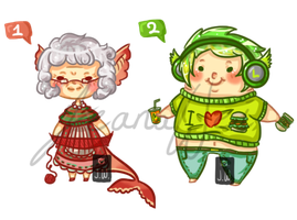 Old and Fat Adopts - CLOSED by JeanaWei