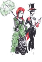 Victorian Harley and Ivy by TheZombieHunter