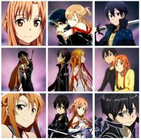 Kirito x Asuna, Icon Pack~ by PinkieBeam