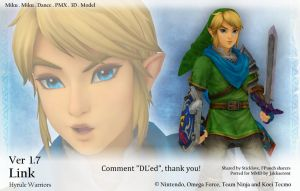 MMD Link DL Ver 1.7 (Hyrule Warriors) by Jakkaeront