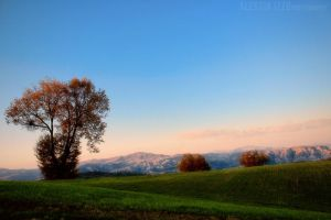 Sunset over the hill by Alessia-Izzo