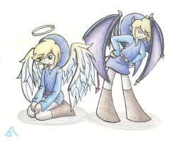 Angel and Devil Blue by Ask-BlueLink