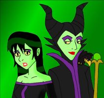 Disney Millicent and Maleficen by Dragon-Wing-Z