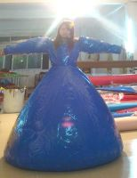 pvc inflatable long dress by puncturegown