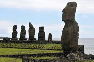Maimed and missing moai 1 - Easter Island by wildplaces