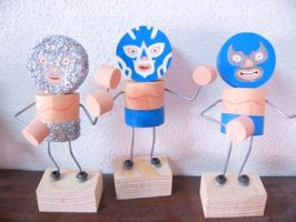 lucha toys by moneroman