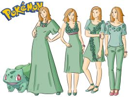 Pokemon Fashion: Bulbasaur by Willemijn1991