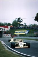 Gerhard Berger   Thierry Boutsen (San Marino 1985) by F1-history