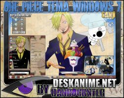 Sanji Theme Windows 7 by Danrockster