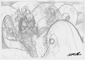 Inside the depth:pencil by shiprock