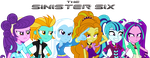 say hello to the ANTI-MANE SIX (EQG style) by titanium-pony