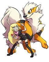 COMM: Kiyxii and Arcanine by DIN0LICH