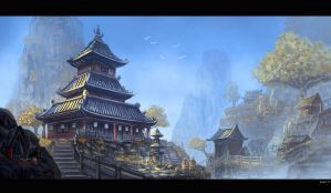 A Temple Up High by bchart